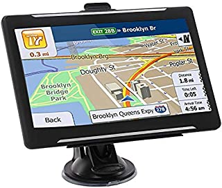 GPS Navigation for Car,7 Inch Touch Screen 8GB Real Voice Spoken Turn-by-Turn Direction Reminding Navigation System for Cars Vehicle GPS with North America Map