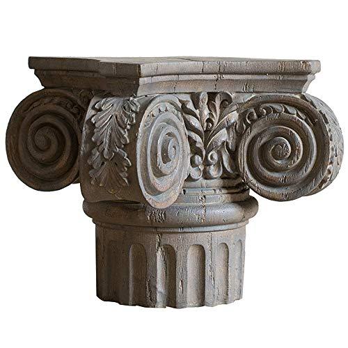 LUCKFY Columna Floral Pedestal - Estatua de Piedra Zócalo - Imitación de...