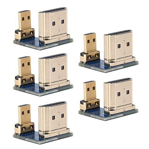 Cuifati Adaptador convertidor de Interfaz, con Oro para Mejorar la Calidad, Incluido un Adaptador de 5 Piezas, para Interfaz Multimedia de Alta definición