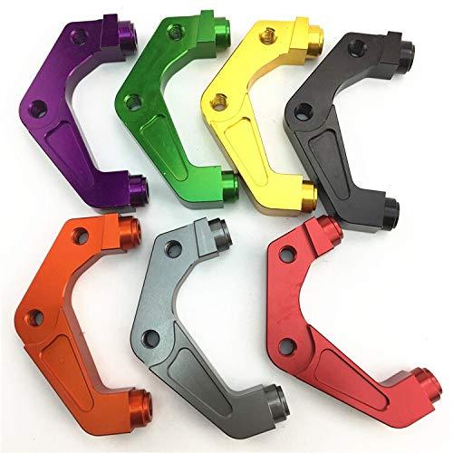 NO LOGO KF-Brakes Calibrador del Freno de la Motocicleta de Soporte/Adaptador for Yamaha Jog Vespa rsz Fuerza for RPM Adelin Adl01 Frando Hf1 82mm Pinza de Freno (Color : Orange 220MM)