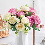 Nocchi's Un Gran montón de simulación Peony Flower Home Rose Rose Living Room Flower (Color : Yellow)
