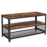 VASAGLE TV Stand for 43 inch TV, Entertainment Center for Living Room, TV Console with Storage Shelves,Industrial Rustic Brown