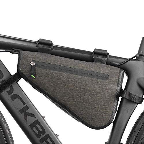 Vélo avant tube supérieur sacoche de selle à écran tactile unisexe adulte grand sac de cadre de vélo zippé triangle coin imperméable à l'eau cycle de vélo sac de cadre triangulaire sac de rangement d