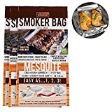 Camerons Smoker Bags - Set of 3 Mesquite Smoking Bags for Indoor or Outdoor Use - Easily Infuse Natural Wood Flavor- (11in x 19in)