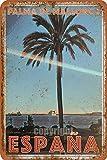Palma de Mallorca Espana - Cartel de metal para calle al aire libre, estilo vintage, decoración para el hogar, porche rústico, 8 x 12 pulgadas