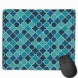 Rechteck Mauspad Gitterzaun Mosaik Schachbrett Durchmesser Gaming Computer Laptop Mousepad mit...