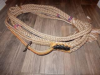 Alligator Bull Rope EPT Bull Ropes - Tan/Blk Custom PRO 9x7 RH Bull Riding Rope
