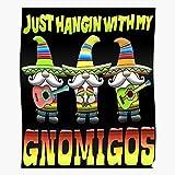 Siesta Gnomies Gnomes Till Tequila México My Hangin Mayo Mexican Gnomigos Cinco Fiesta With De 3 Home Decor Wall Art Print Poster !