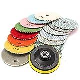 BXU-BG 16 almohadillas de pulido de diamante de grano 50 a 10000 para granito piedra hormigón mármol herramienta abrasiva