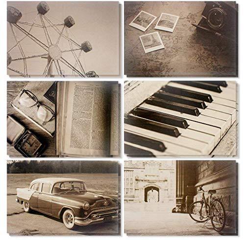 Vintage Postcards – 48-Pack Blank Postcards, 6 Retro Picture Postcards Featuring Sepia Photographs, Bulk Box Set, 4 x 6 Inches