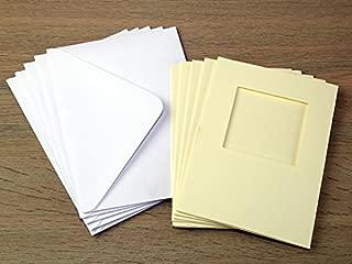 Minerva Crafts C6 Square Aperture Cards & Envelopes Cream - per Pack of 5