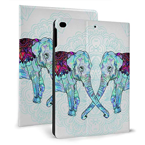Background With Decorative Floral Elephant Case For Ipad Mini 4/5 7.9 Inch Cover Protective Smart Trifold Stand Cover With Auto Sleep/Wake For Apple Ipad Tablet