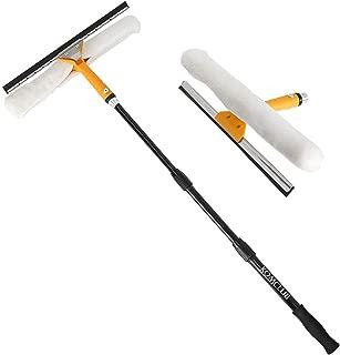 窓掃除スクイージー KOMCLUB 水切りワイパー 結露取り ガラスワイパー 窓掃除 風呂 T字型 プロ仕様 伸縮タイプ 3点セット 掃除用品(1M)