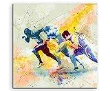 Running VII 60x60cm Wandbild SPORTBILD Aquarell Art tolle Farben von Paul Sinus -