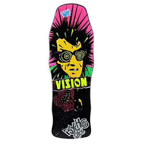"Vision Original Psycho Stick Reissue Skateboard Deck, 10"" x 30"", Black"