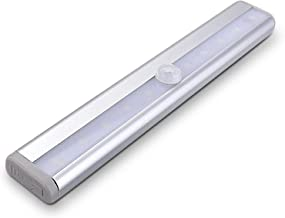 LED Closet Light with Motion Sensor 10-LED Batteries Operated Magnetic with Adhesive Under Cabinet Light Little Light Bar ...