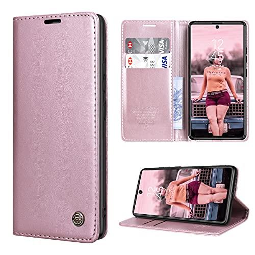 RuiPower per Cover Samsung Galaxy S10 Lite Pelle Premium, Custodia Samsung Galaxy S10 Lite Portafoglio Magnetica Flip con TPU Antiurto Supporto Cover Libro Samsung S10 Lite - Oro Rosa