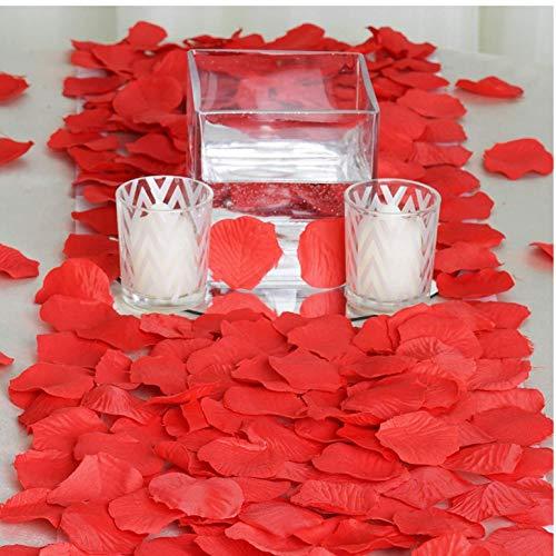 PiniceCore 2000 Seda roja pétalos de Rosa Artificial Ceremonia de Boda Flor Tablas de dispersión Fuentes de Las Decoraciones Granel al por Mayor