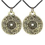 LYYYY Collar de Amuleto de Dinero Feng Shui, Amuleto de Dinero para atraer Dinero con 4 espíritu de abundancia, Collar de Amuleto Vintage (2)