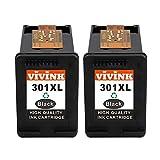 VIVINK 2 Nero Remanufactured per HP 301 301XL Cartucce d'inchiostro Compatibile per HP Deskjet 2540 2050 1510 1050A 1050 3055A 3050A 3050, Envy 5530 4500 4508, Officejet 4630 2620