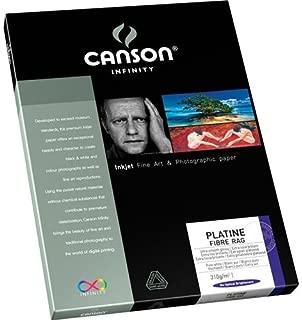 "Canson Infinity Platine Fibre Rag Bright White Smooth Satin 310gsm, 8.5x11"" 25Sh"