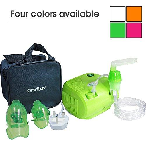 Omnibus BR-CN116B - Nuevo inhalador compresor Inhalador compacto para inhaladores bebe electrico dos enchufes UK EU (verde)