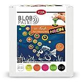 Viva Decor Juego de pintura Blob Paint (pescado) listo para usar para Blob Painting/Dot Painting Art – Herramienta de puntos para lienzo, mandala etc. – Fabricado en Alemania