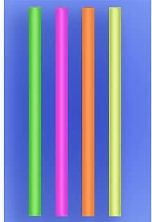 "Wow Plastics Inc. Colossal Straw 12"" - Neon - 2/600 (1,200/Case)"
