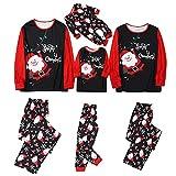Alueeu Pijamas Navideños Familiares El nuevo Set Mamá Papá Niños Bebé Manga Larga Homewear Pijamas Navidenos Mono riou