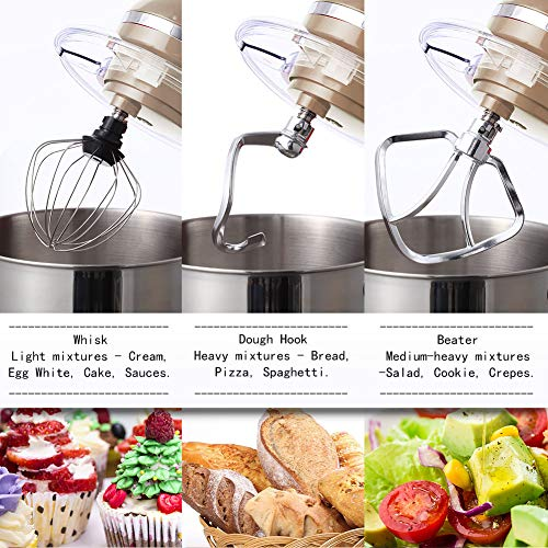 Aucma Stand Mixer 6.2 L Stainless Steel Mixing Bowl