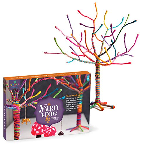 Craft-tastic - Yarn Tree Kit - Craft Kit Makes One 18' Tall Jewelry Organizer