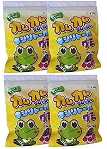カムカムフレッシュ キシリトール グミ グレープ味 4袋