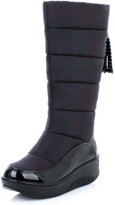AIKAKA Frauen Herbst und Winter Europa und und und Amerika Sexy warm in der Röhre Stiefel aus Baumwolle Schuhe Stiefel  47bd27