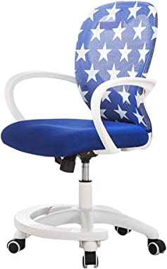 Furniture of Home Children's desks and Chairs, Adjustable Student Computer armrest Swivel Chair, Ergonomic Chair Student Sitting Posture Correction Chair, Improve Sitting Posture, ZDDAB