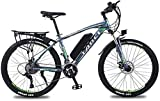 Electric Bike Electric Mountain Bike, Adult 26 Inch Electric Mountain Bike, 350W/36V Lithium Battery, High-Strength Aluminum Alloy 27 Speed Variable Speed Electric Bicycle for the jungle trails, the s