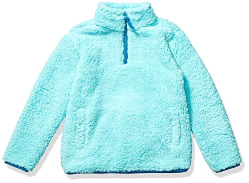 Amazon Essentials Quarter-Zip High-Pile Polar Fleece Jacket Outerwear-Jackets, Agua (Aqua), 4T
