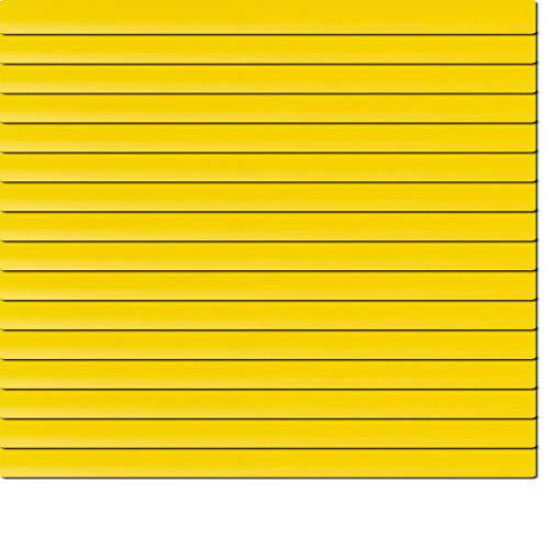 Dekologi Aluminium Jalousie 65 x 170 cm (Breite x Höhe) - Lamellenfarbe 1206 Sonnengelb gelb//Maßanfertigung Alu Jalousien Jalousette Rollo Plissee