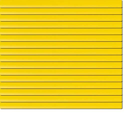 Dekologi Aluminium Jalousie 95 x 170 cm (Breite x Höhe) - Lamellenfarbe 1206 Sonnengelb gelb//Maßanfertigung Alu Jalousien Jalousette Rollo Plissee