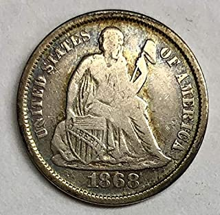 1868 S Seated Liberty Dime 10c - Fine (F)