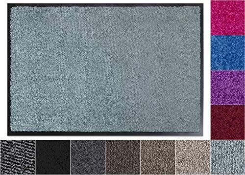 Jan Max Alfombra para atrapar la Suciedad - 8 Colores - Felpudo con 2900g/m2 de Fibra PP Twisted Heatset - 2,4l/m2 de absorción de Humedad - Alfombra para Correr Limpia 40 x 60 cm Menta Verde