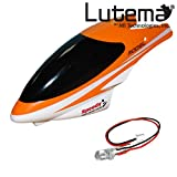 Lutema Mid-Sized 3.5CH Helicopter Repair Kit # 8 - Orange Cabin & LED
