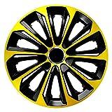 CM DESIGN Radkappen 15 Strong Extra Gold schwarz Radzierblenden in verschiedenen Farben & Größen