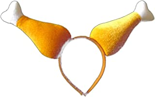 AAGOOD Partido de Pollo Accesorios de Vestir 3D head3D Pollo Gallo Diadema Hecha a Mano Pelo del Ventilador de Cock