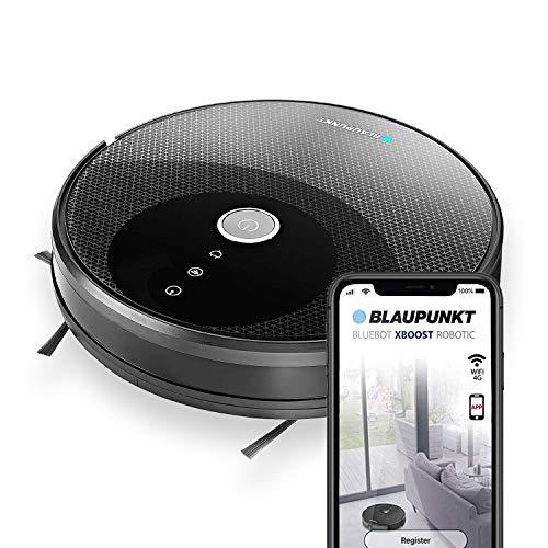 Blaupunkt XBOOST Saugroboter mit Turbo-Saugfunktion - Roboterstaubsauger für Tierhaare - Staubsauger Roboter mit Bereichsabgrenzung und Anti Allergie Filter