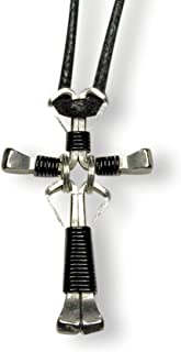 Dangle Design Horseshoe Nail Cross Necklaces - You Pick Colors!