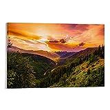 Montana Sunset Sky Canyon - Póster decorativo para pared (40 x 60 cm)