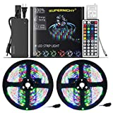 New 2020 LED Strip Lights – 32.8ft 600 LEDs SMD 3528 RGB Rope with Remote Controller and 12V Power Adapter, Extra Adhesive Tape, Color Changing Lighting for TV, Bedroom, Christmas Decor