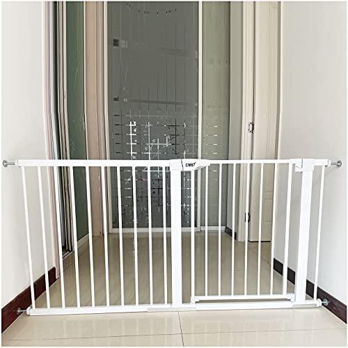 Barrera de Seguridad de Niños Seguridad Infantil Escalera Pet Gate Barrera de Interior, Valla, Ideal para Perros o Gatos, en escaleras en Interiores y Exteriores