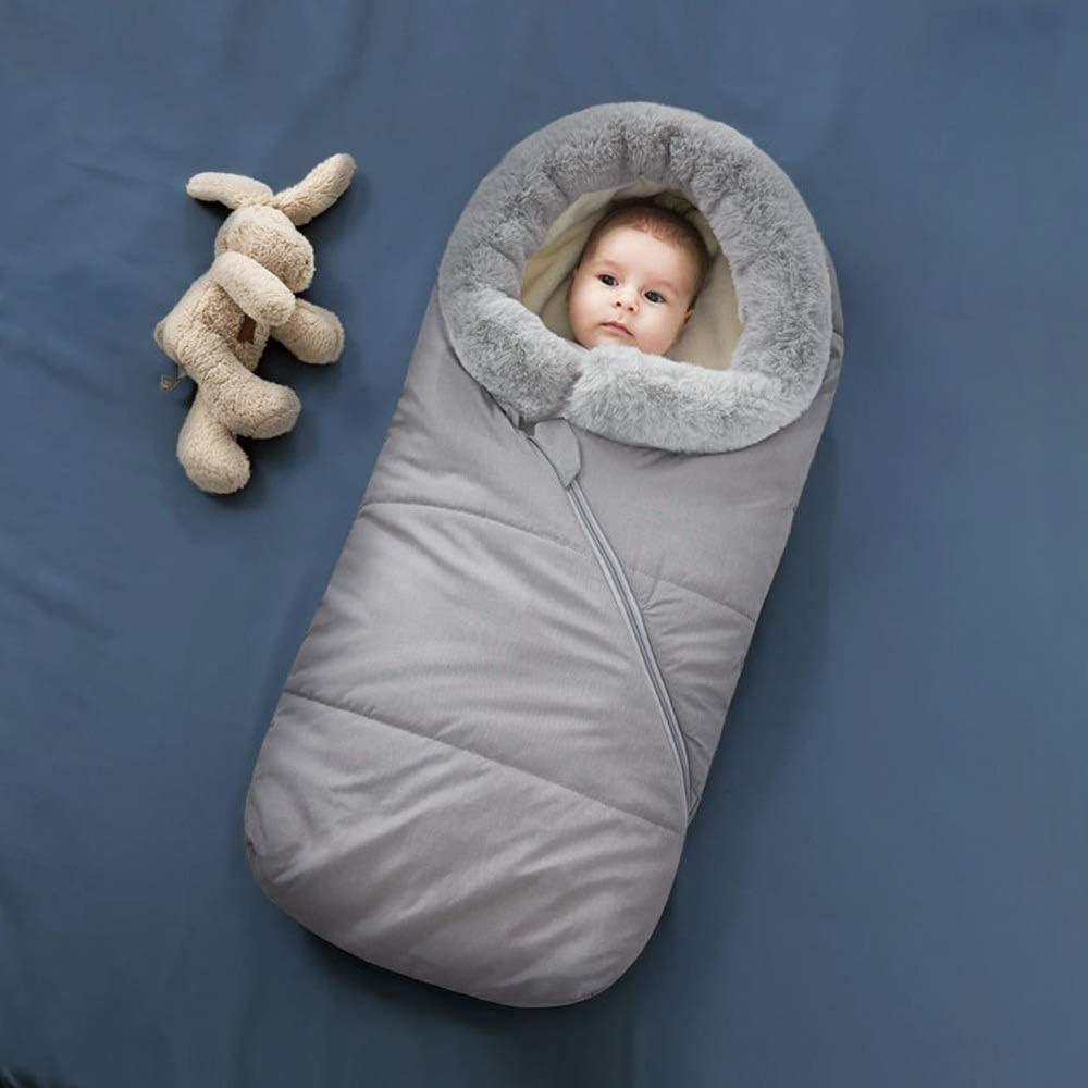 HAYI Enveloppe dans une enveloppe de poussette for les nouveau-nés sac de couchage bébé bébé cocon couche changeant chaude hiver bébé sleepsacks nouveau (Color : Blue) Black