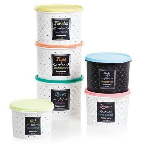 Oferta! Kit Mantimento Bistro 6 Cx C/arroz 5 Kg Tupperware